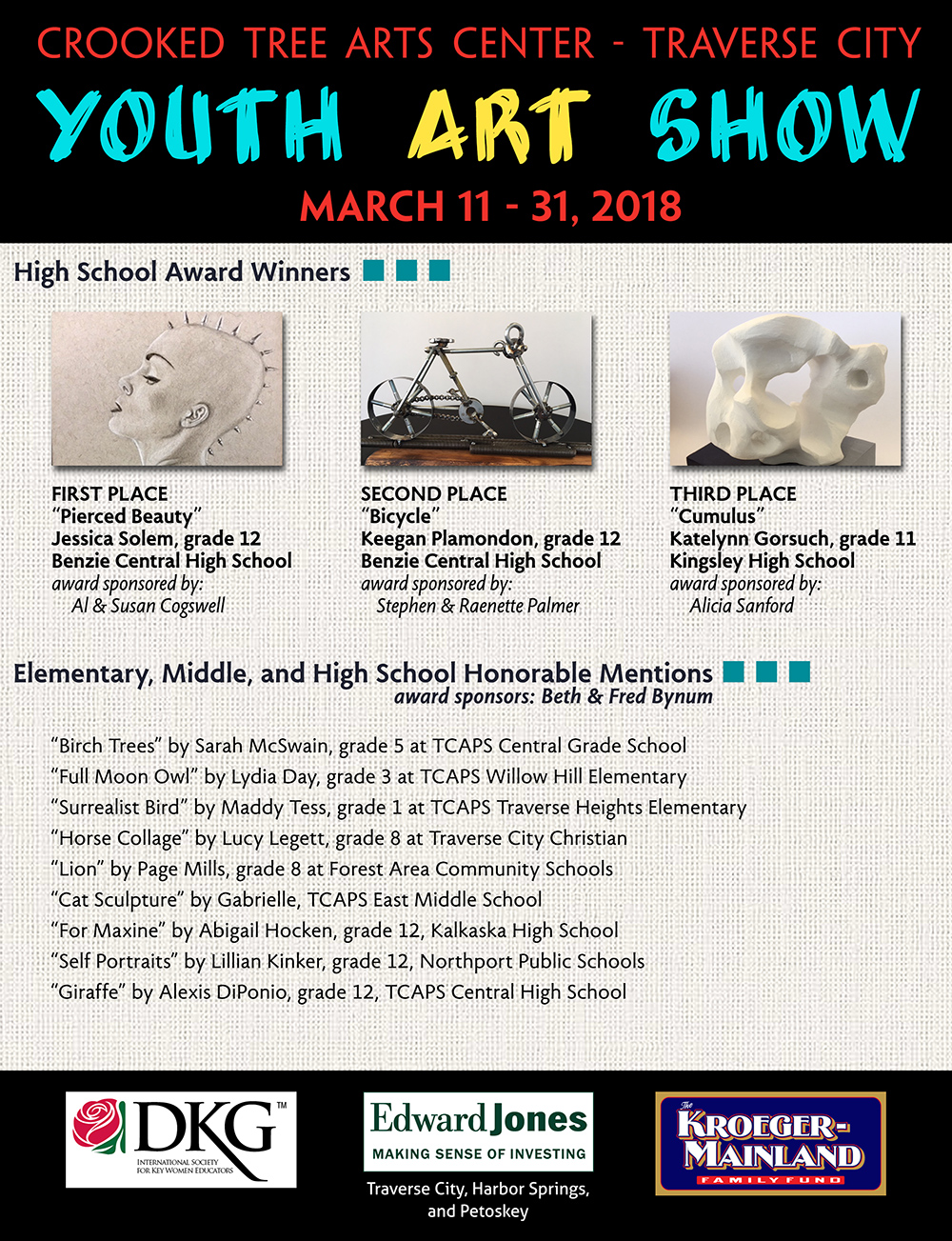 Youth Art Show 2018 winners