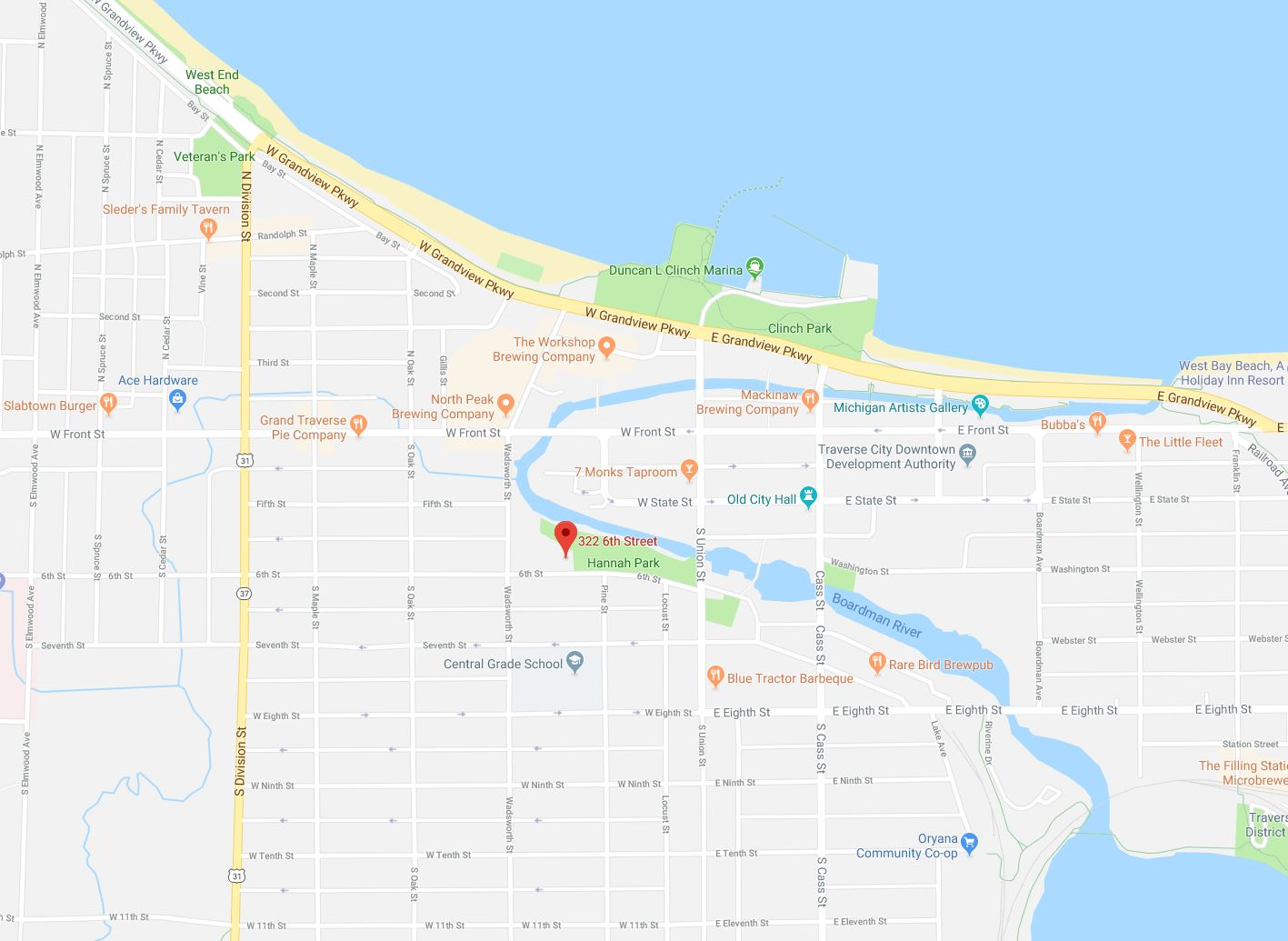Downtown Traverse City map