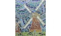 Morning Mosaics glass mosaic windmill
