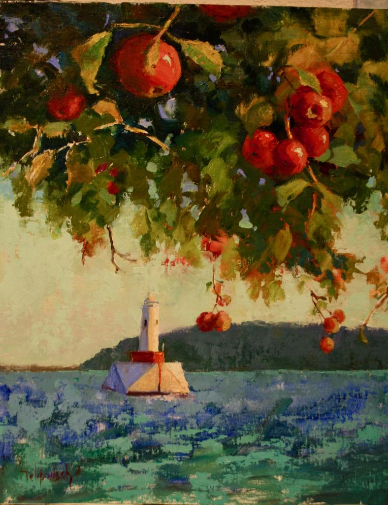Apples on the water